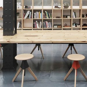 Empty Stools by Table