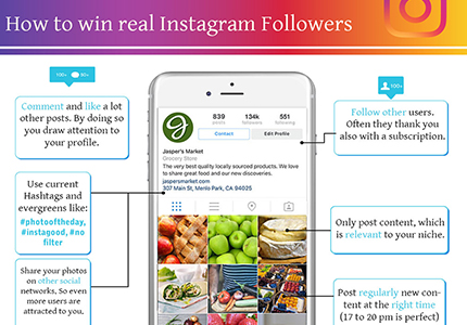 Mobile phone displaying Instagram app